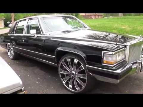 1990 Cadillac Brougham On 26s Custom Interior W/ TVs Sundown & PRV Audio SSinteriors