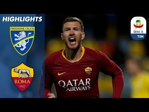 Frosinone 2-3 Roma | Džeko Scores Late as Roma wins 3-2 at Frosinone | Serie A