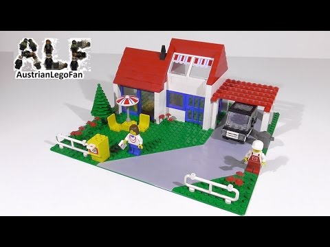 Lego Classic Town 6349 Holiday Villa from 1988 - Lego Speed Build Review