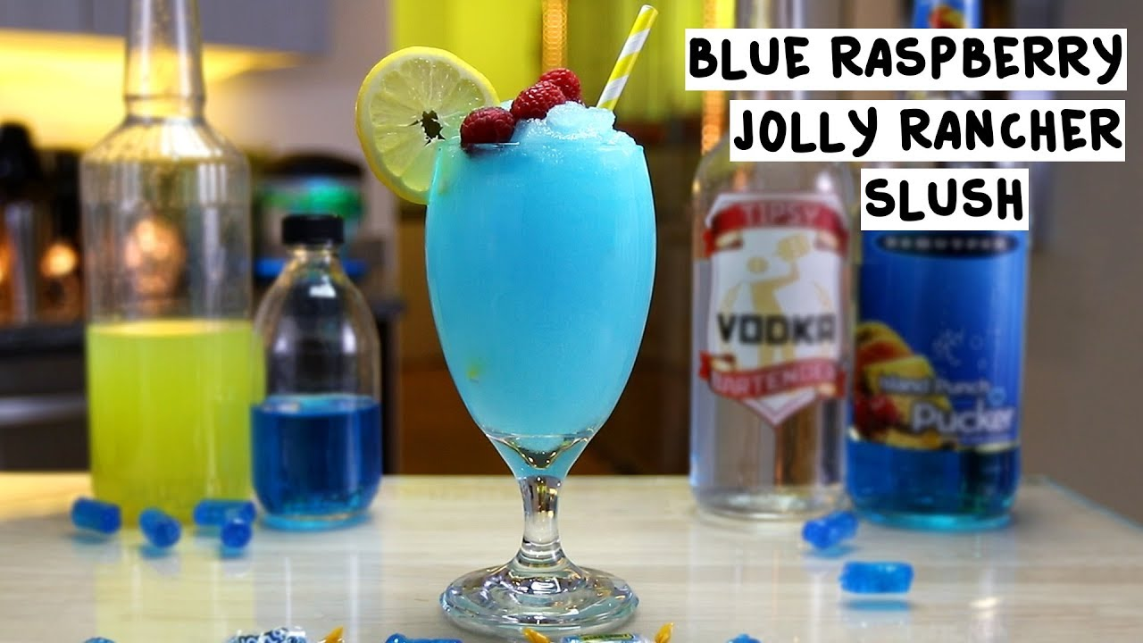 How to make blue raspberry ice cream slush