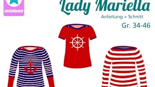 Nähanleitung Shirt Mariella, Lady Mariella