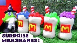 Funny Funlings McDonalds Drive Thru Play Doh Milkshake Surprise with the Wizard Funling TT4U