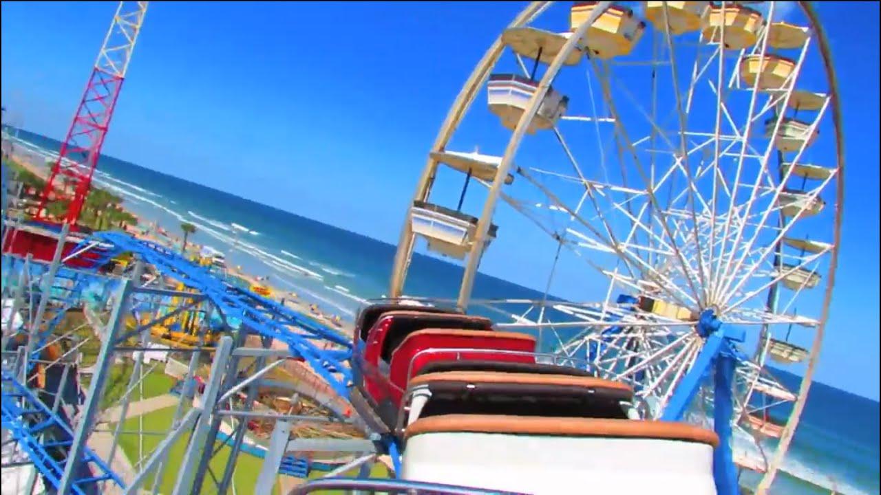 Daytona Beach Boardwalk Amuts Sand Blaster Roller Coaster Pov