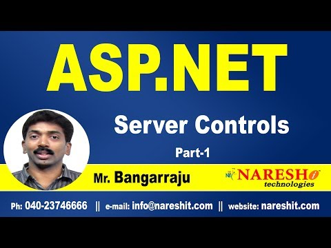 ASP.NET Server Controls Part 1 | ASP.NET Tutorials | Mr.Bangar Raju