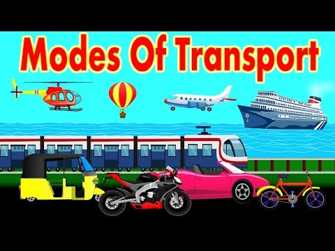 Different Types of Transportation | Modes of Transport | Educational Videos Youtube | Kid2teentv