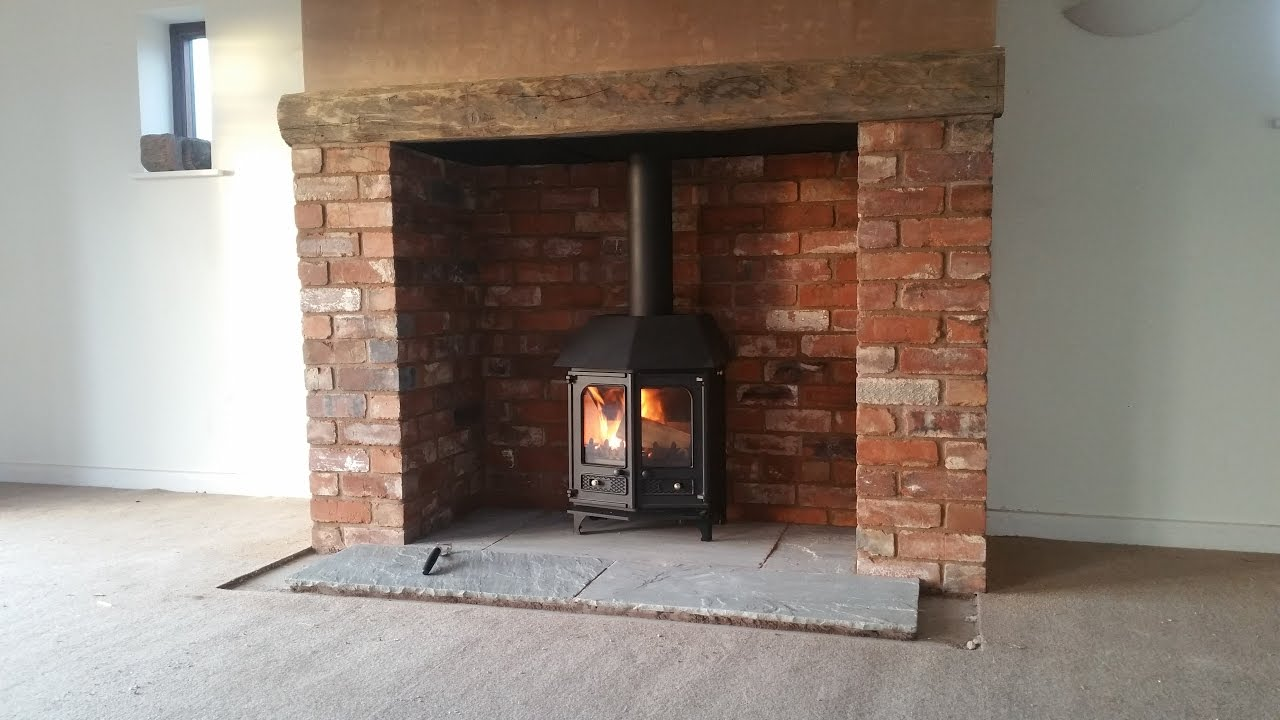 charnwood country 6 brick chimney build inglenook stove