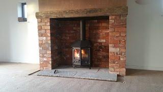 Charnwood Country 6, Brick Chimney Build, Inglenook, Stove Installation