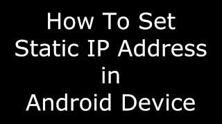 How To Set Static IP Address o…