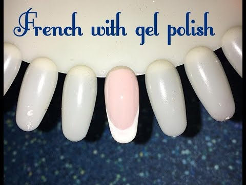 French Cu Oja Semipermanenta French With Gel Polish Tutorial