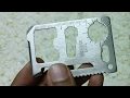 11 in 1 Multi Function Credit Card Style Survival Tool Kit Unboxing.