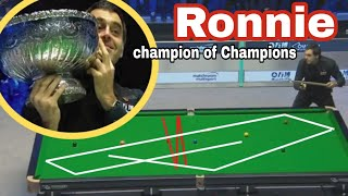 Ronnie  very flukes  and crazy, very lucky game  at  Champion of Champions 2018