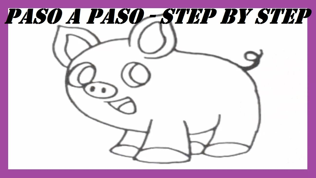 how to draw a pig video