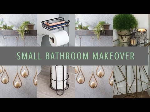 Decorating and Organizing Small Bathroom Spaces: Tips, Tricks and Ideas