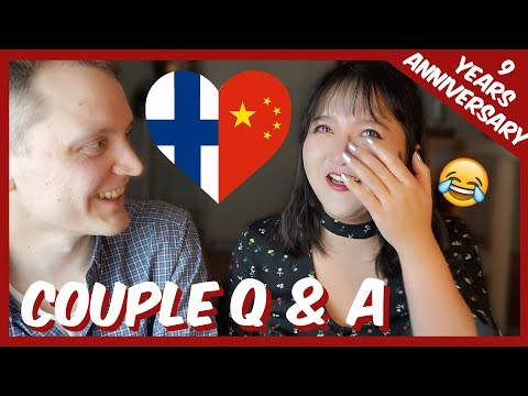 FINNISH CHINESE COUPLE Q & A 中芬跨国恋夫妻走心问答❤️ HOW WE MET ? CULTURAL DIFFERENCES ? [中文字幕]