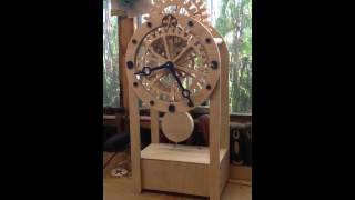 Electro-magnetic Wooden Gear Clock