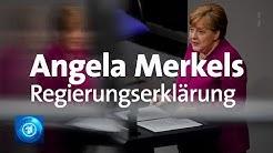 Corona: Regierungserklärung von Bundeskanzlerin Merkel im Bundestag