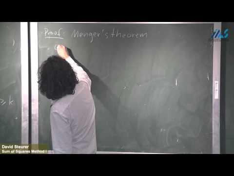 David Steurer (Cornell University) Sum of Squares Method I