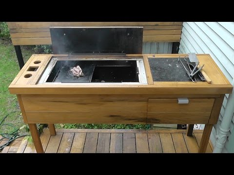 Homemade BBQ Build DIY Wood/Charcoal Barbecue Part 1: Firebox and Frame