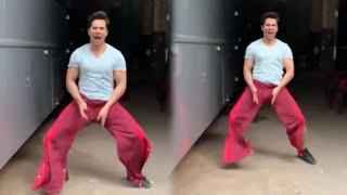 Varun Dhawan's WEIRD BALA BALA Challenge In Red Pants On The Sets Of Coolie No.1 | Akshay Kumar