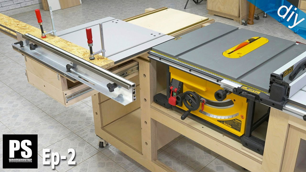 Download DIY Table Saw Sliding Carriage / EP 2