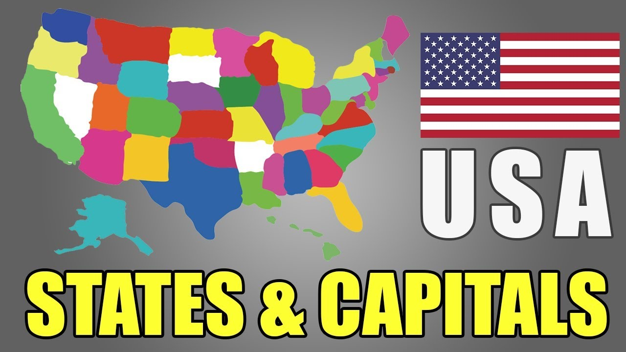 In geography, a location's relief is the difference between its highest and lowest elevat. Learn Usa States And Capitals 50 Us States Map Geography Of United States Of America Easy Gk Youtube