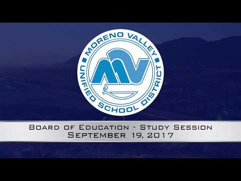MVUSD Board Meeting - Study Session 9-19-2017