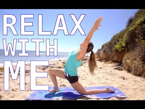Relax with Me Stretch Routine | POP Pilates Beach Series