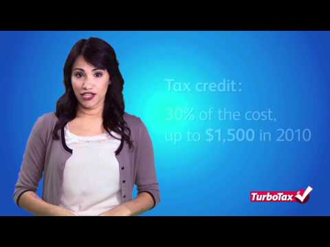 Claiming Energy Tax Credits 2011 - TurboTax Tax Tip Video
