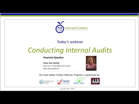Conducting Internal Audits - International Food Safety and Quality