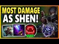 MOST DAMAGE AS SHEN IN DIAMOND! THIS TEAM MADE ME ALMOST LOSE MY MIND | Unranked to Challenger EP 34
