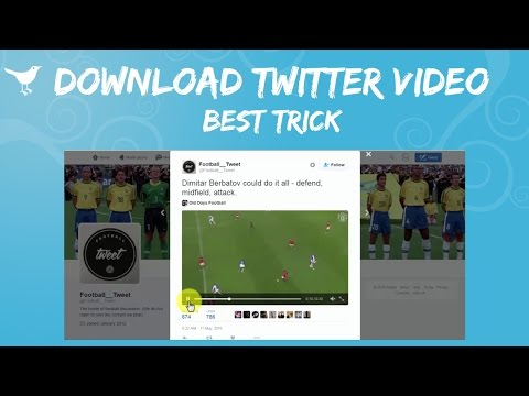 How To Save Videos From Twitter - Download Twitter Videos | Trick/Method
