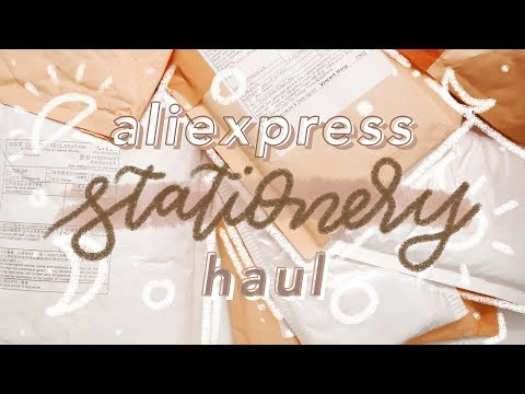✨✏️HUGE ALIEXPRESS STATIONERY HAUL 2019 🖍✨ thumbnail
