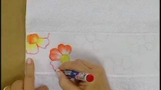 Pintura em tecido com caneta Acrilpen - Artesanato - Acrilex
