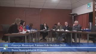 Concejo Municipal Viernes 5 de Octubre 2018 El Quisco