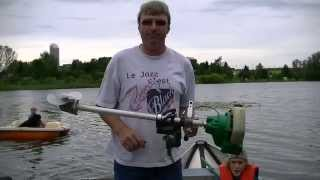 Homemade Weedeater Outboard Motor Test