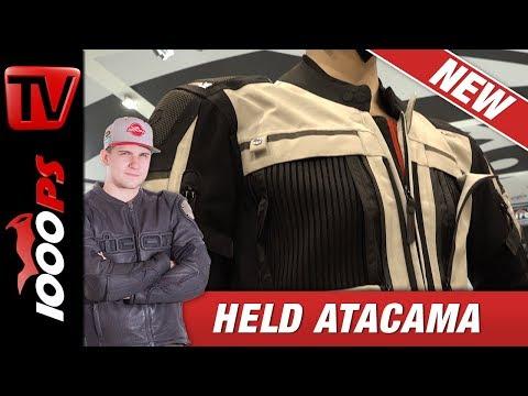 Held Atacama - Textil-Kombi mit integrierten LED Streifen!