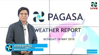 Public Weather Forecast Issued at 4:00 AM May 14, 2018