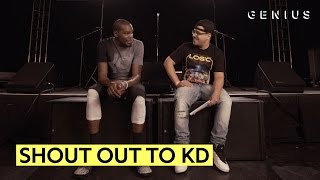Kevin Durant Reacts To Lyric Shout Outs From Drake, Jay Z, J. Cole, Wale, and Logic