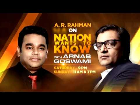 A R Rahman On Nation Wants To Know - Promo