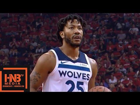 Houston Rockets vs Minnesota Timberwolves 1st Half Highlights / Game 5 / 2018 NBA Playoff