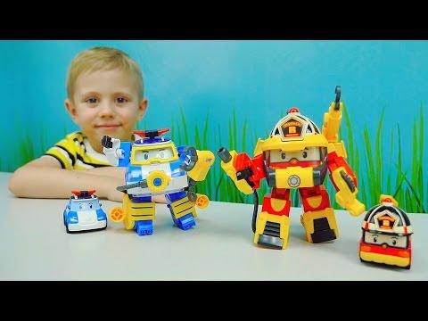 Робокар Поли Водолаз и Робокар Рой Суперпожарный - Robocar Poli Diving and Roy Super Fireman