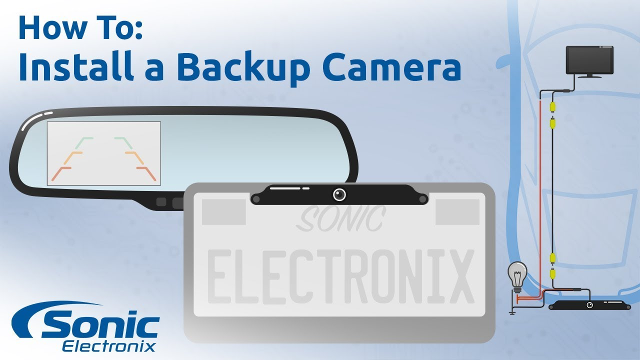 how to install a rear view backup camera step by step installation