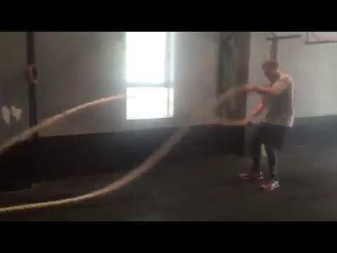 Personal Trainer Sydney battling ropes