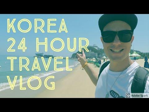 24 Hour TRAVEL through KOREA VLOG - jeongdongjin, Gyeongpo, Beach, KTX, Seoul