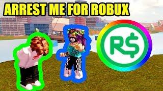 Wenn Sie ARREST ME, Gebe ich Ihnen 1000 ROBUX | Roblox Jailbreak