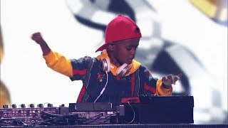 Kid DJ Arch Jnr performs original Mix of Hit Songs on America's Got Talent: The Champions