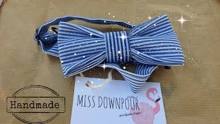 DIY: HOW TO MAKE A BOW TIE / NO SEW (como hacer una pajarita sin coser)