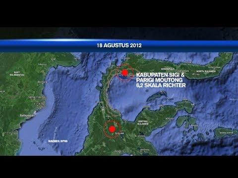 WASPADA!! Rekam Jejak Gempa Di Sulawesi
