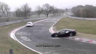 Ferrari 458 drift fail Crash