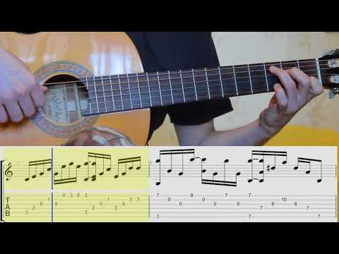 Shape of my heart. Guitar. tabs.notes.Fingerstyle